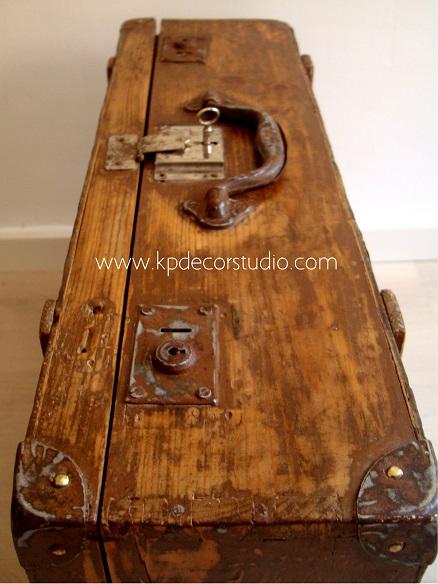 Venta de maletas vintage de madera