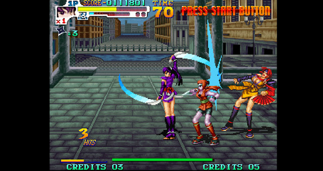 Screenshot of Neo Geo game Sengoku 3