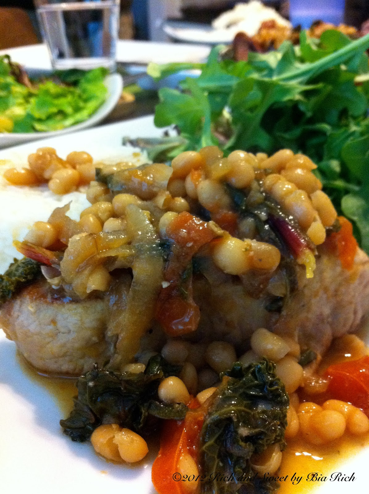 Pork Chops With White Beans Recipe — Dishmaps