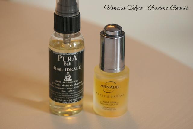 huile ideale pura bali et huilesoin nourrisant perle et caviar de institut arnaud testé par Vanessa Lekpa