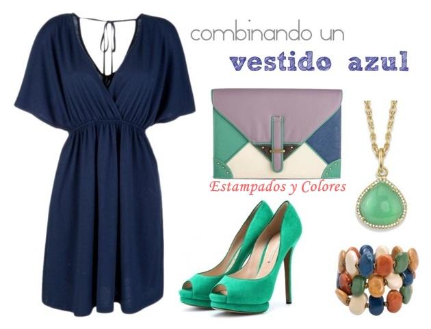 Accesorios para vestido verde azul