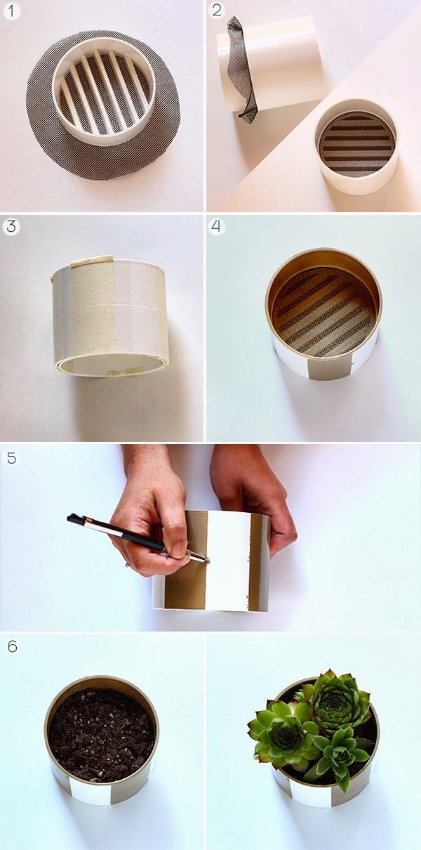 artesanato com tubo PVC