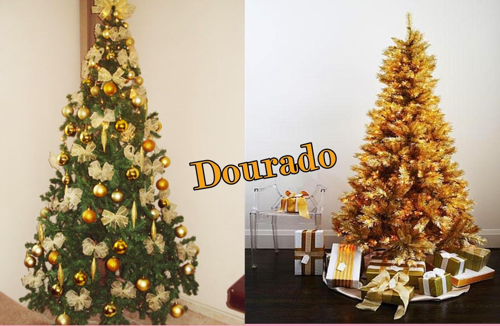 decoracao arvore de natal vermelho e dourado:pelo prata são diversas tendências de cores e de maneiras de decorar