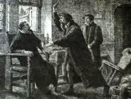 Farel apelando a Calvino por Reforma em Genebra