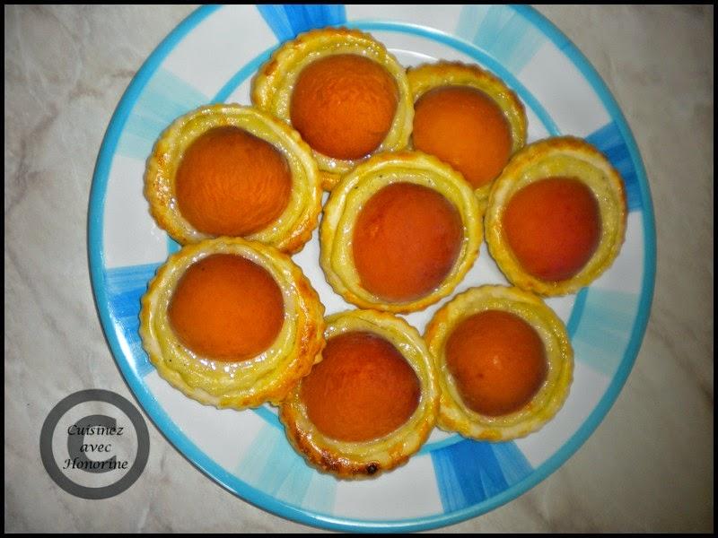 Les petits feuilletées aux abricots