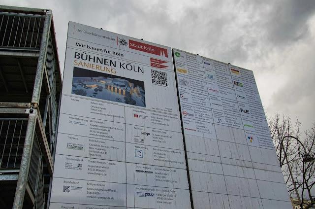 Baustelle Köln, Bühnen Sanierung, Oper, Entkernung und Rückbau, Offenbachplatz 1, 50667 Köln, 27.01.2014