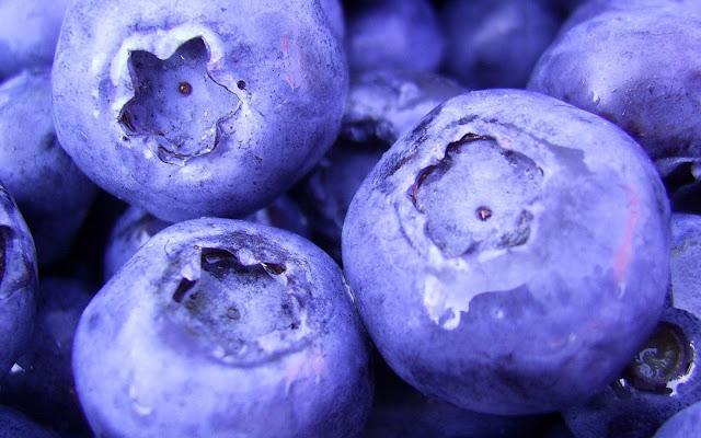 Macro Blueberries