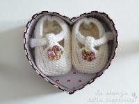Scarpine neonato maglia
