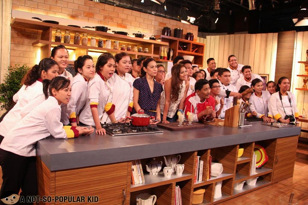 Idol Sa Kusina Set with Chef Boy Logra, Bettinna Carlos and Louise Delos Reyes