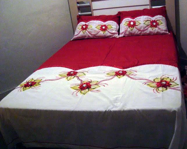 Artes e pinturas da dedey colcha casal vermelho - Tipos de colchas ...