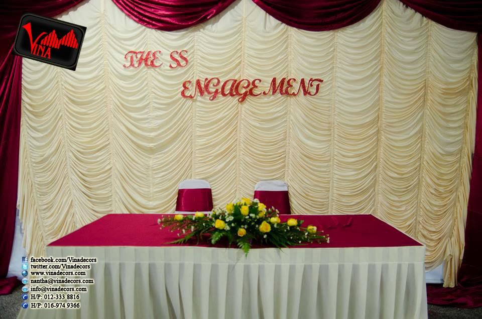 Engagement at Mariamman Temple Sg Tua by Vina Canopy & Decor