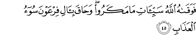 Surat Al Mu'min Ayat 45