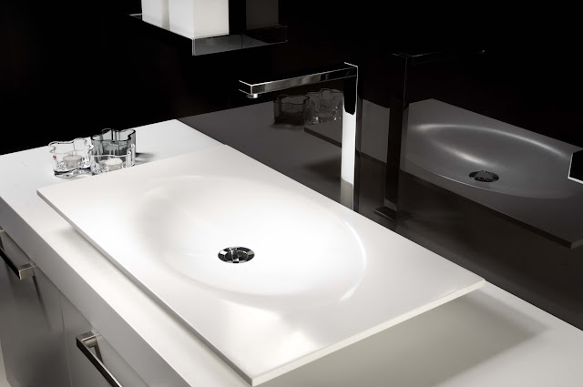 Minosa scoop bathroom basin by minosa made with corian Corian bathroom sinks and countertops