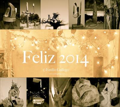 Imágenes de Esculturas de Emilio Gallego, Felicitación 2014.