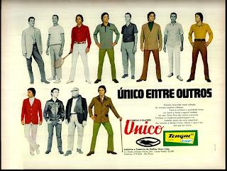 propaganda camisas e blazers Unico - 1970; os anos 70;história da década de 70; Brazil in the 70s;
