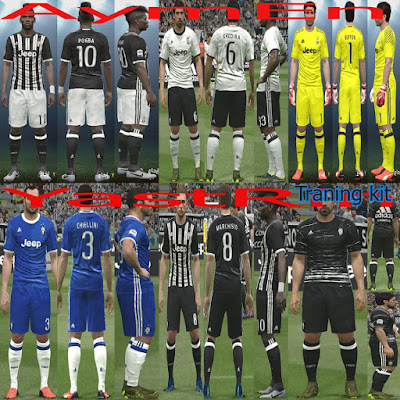 PES 2016 Juventus Full Kit Pack 2017 + Traning kit by YastRin