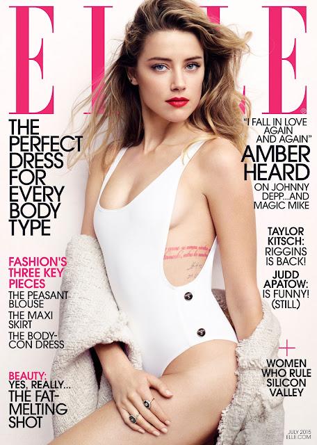 Actress, Model @ Amber Heard - Elle, July 2015