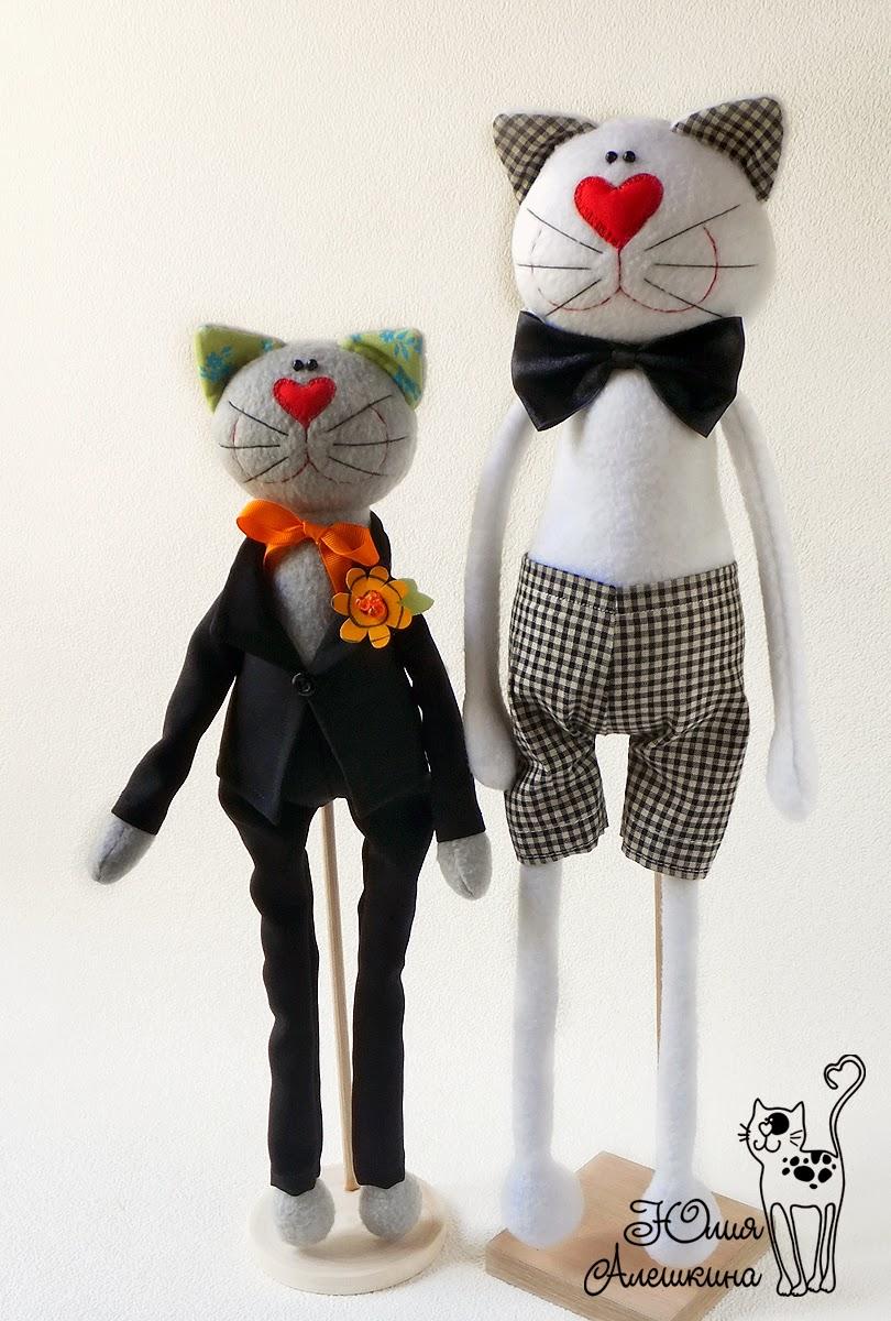 коты игруркши из флиса