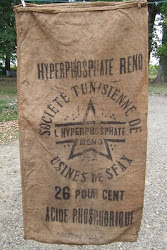 Nice vintage burlap from France