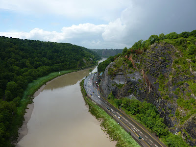 Avon Gorge, where Rory and his sister will be abseiling for charity!