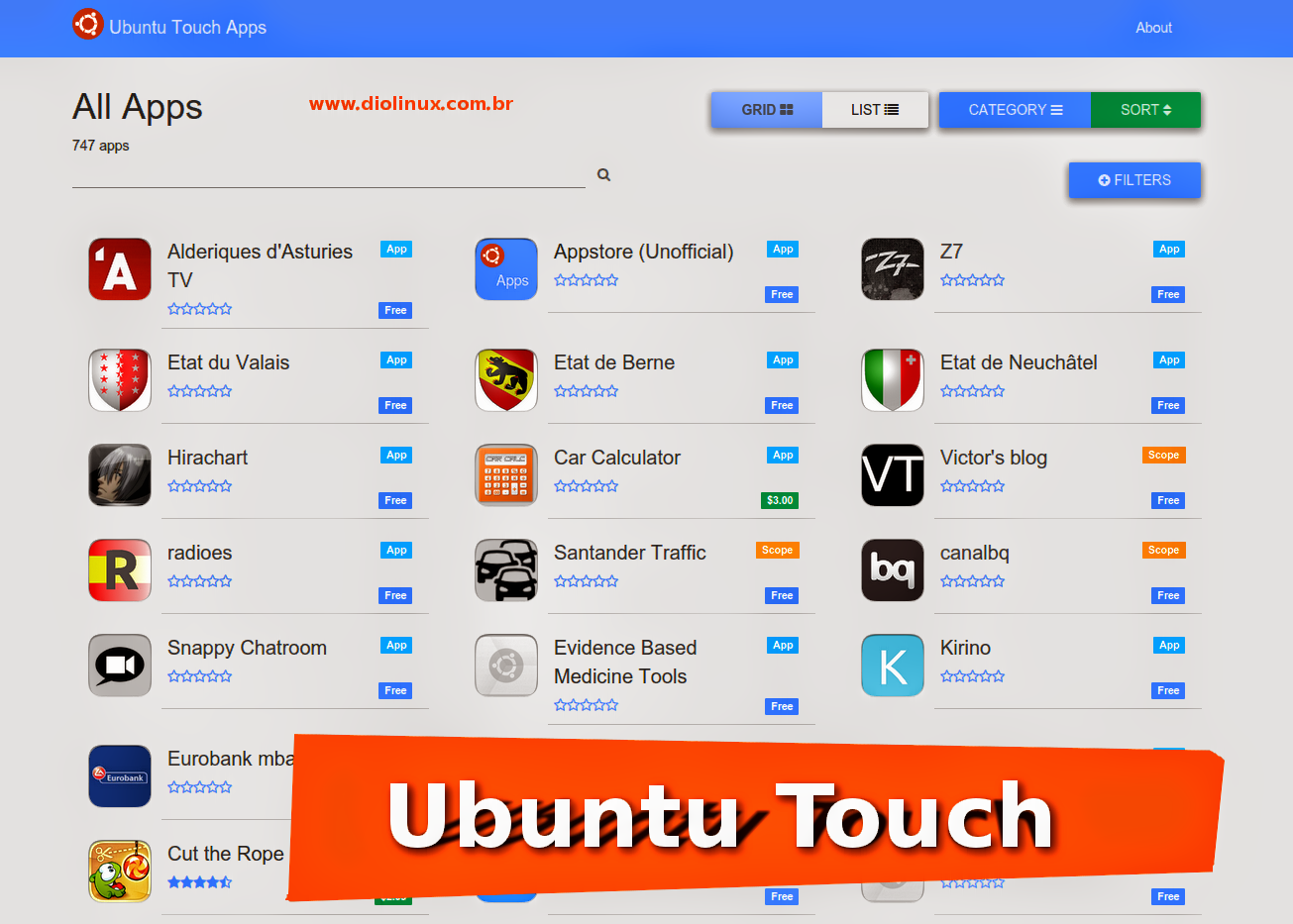 Ubuntu Touch Online Store