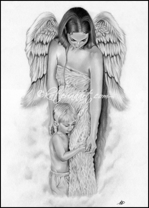 Guardian Angel Tattoo Sketches The Artwork Of Katerin...