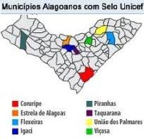 MUNICÍPIOS ALAGOANOS COM SELO UNICEF