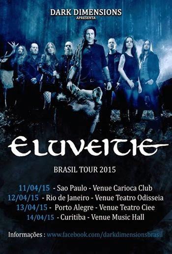 Eluveitie Brazil tour 2015