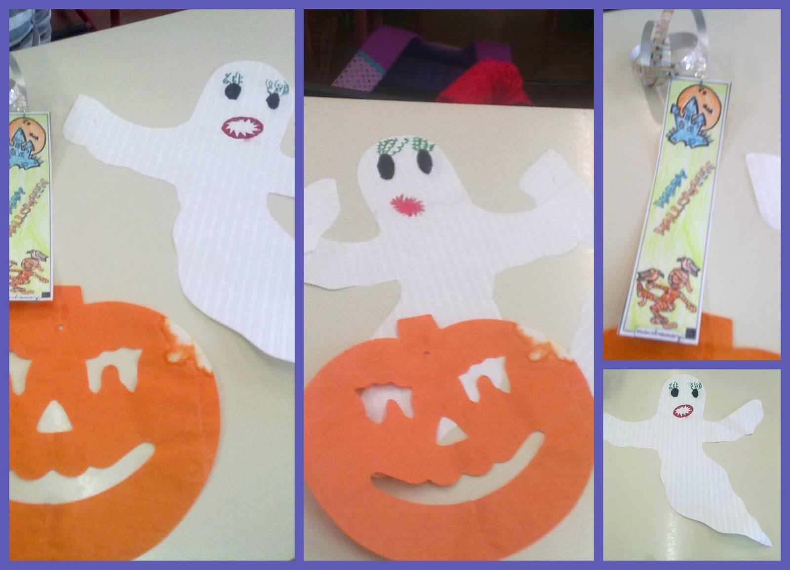 la scuola in cartella halloween lavoretti