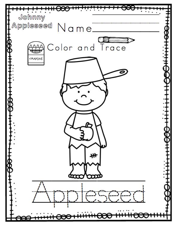 Johnny Appleseed Worksheets For Kindergarten Costume Mariage