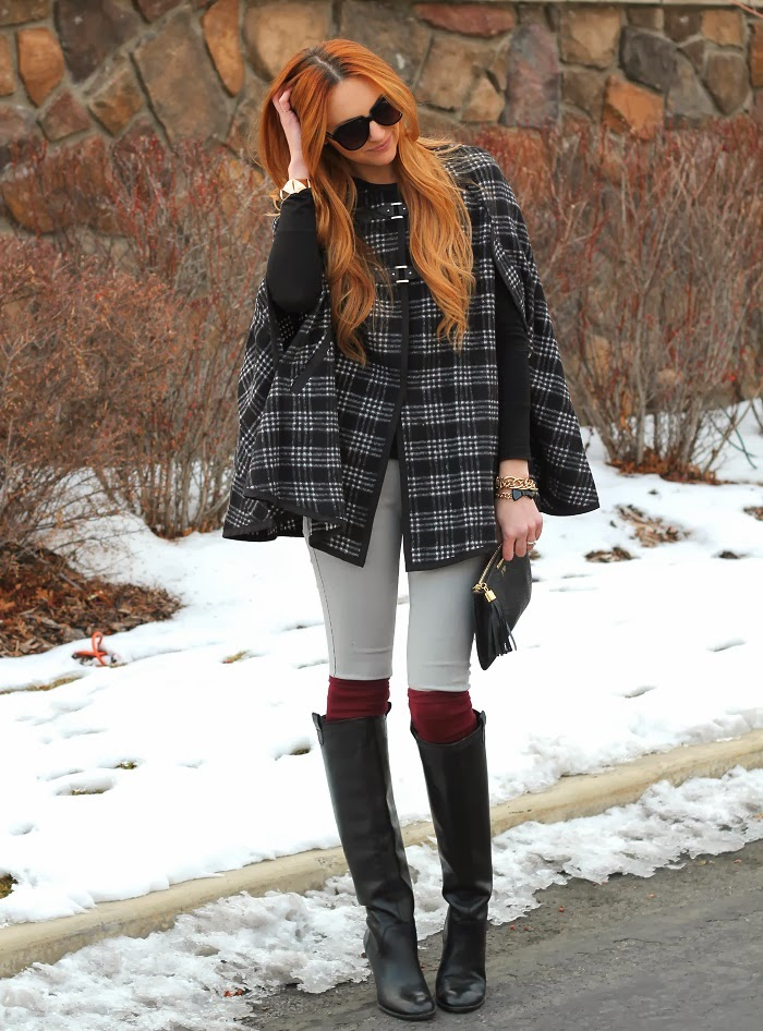 Plaid Cape