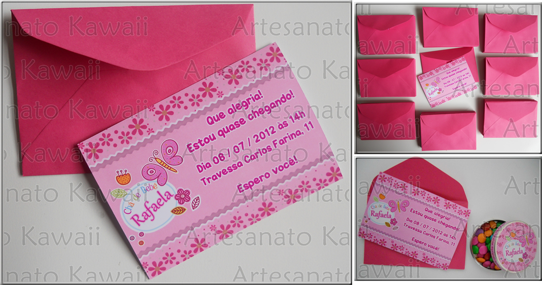 Artesanato Kawaii Convite E Lembrancinhas Chá De Bebê Da Rafaela