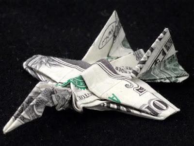 SEXY BANGET Seni Lipat Origami Terkeren jet fighter