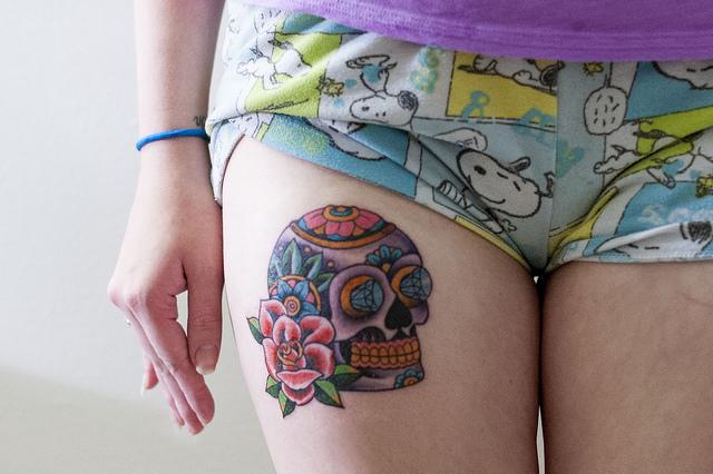 Desenho de Caveira mexicana pintado e colorido por Lukaspx o dia ...