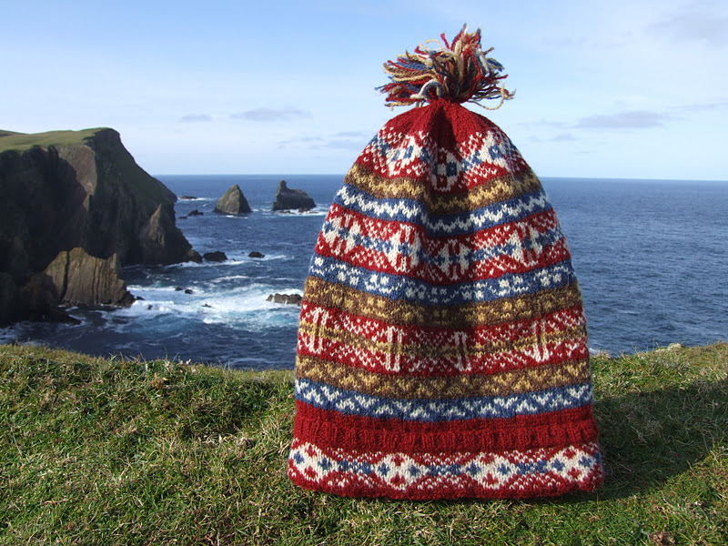 Fair Isle Traditional Hand Knit Fair Isle Fishermans Keps 6 Hats