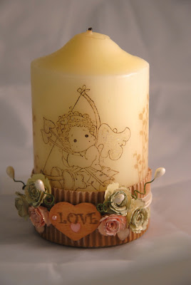 altered candle for my angel