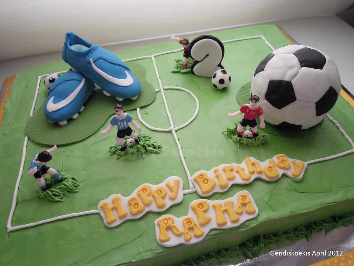 Gendiskoekis Soccer Birthday Cake