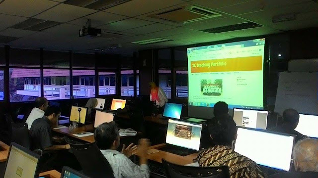 Teaching eportfolio development workshop for lecturers at PPP, City Campus, UTeM.