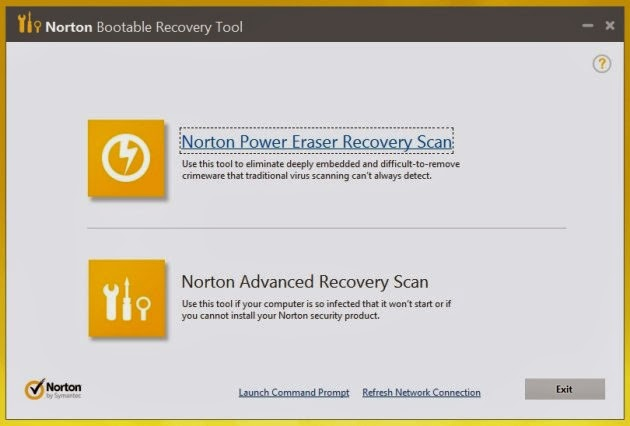 Norton Antivirus 2014 - Norton Bootable Recovery Tool