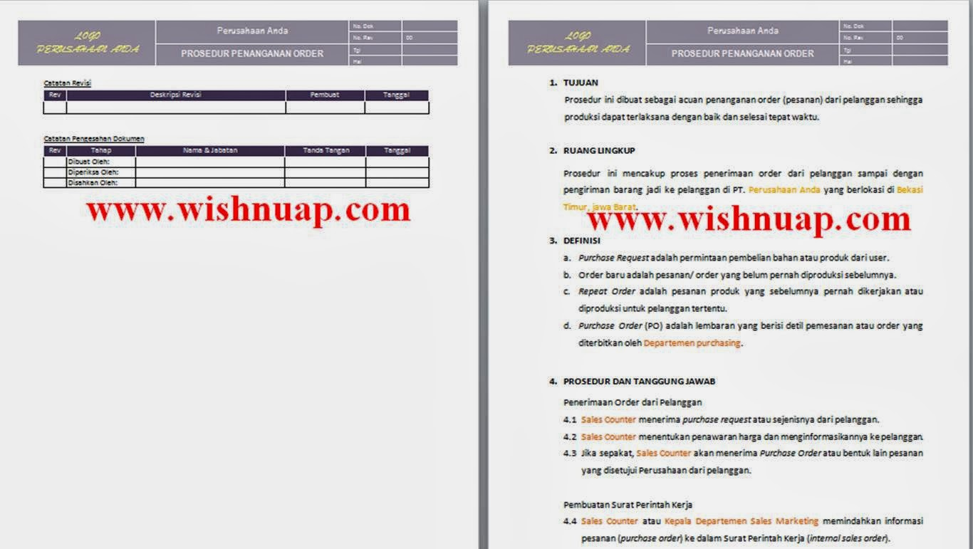prosedur penanganan order prosedur penanganan keluhan pelanggan