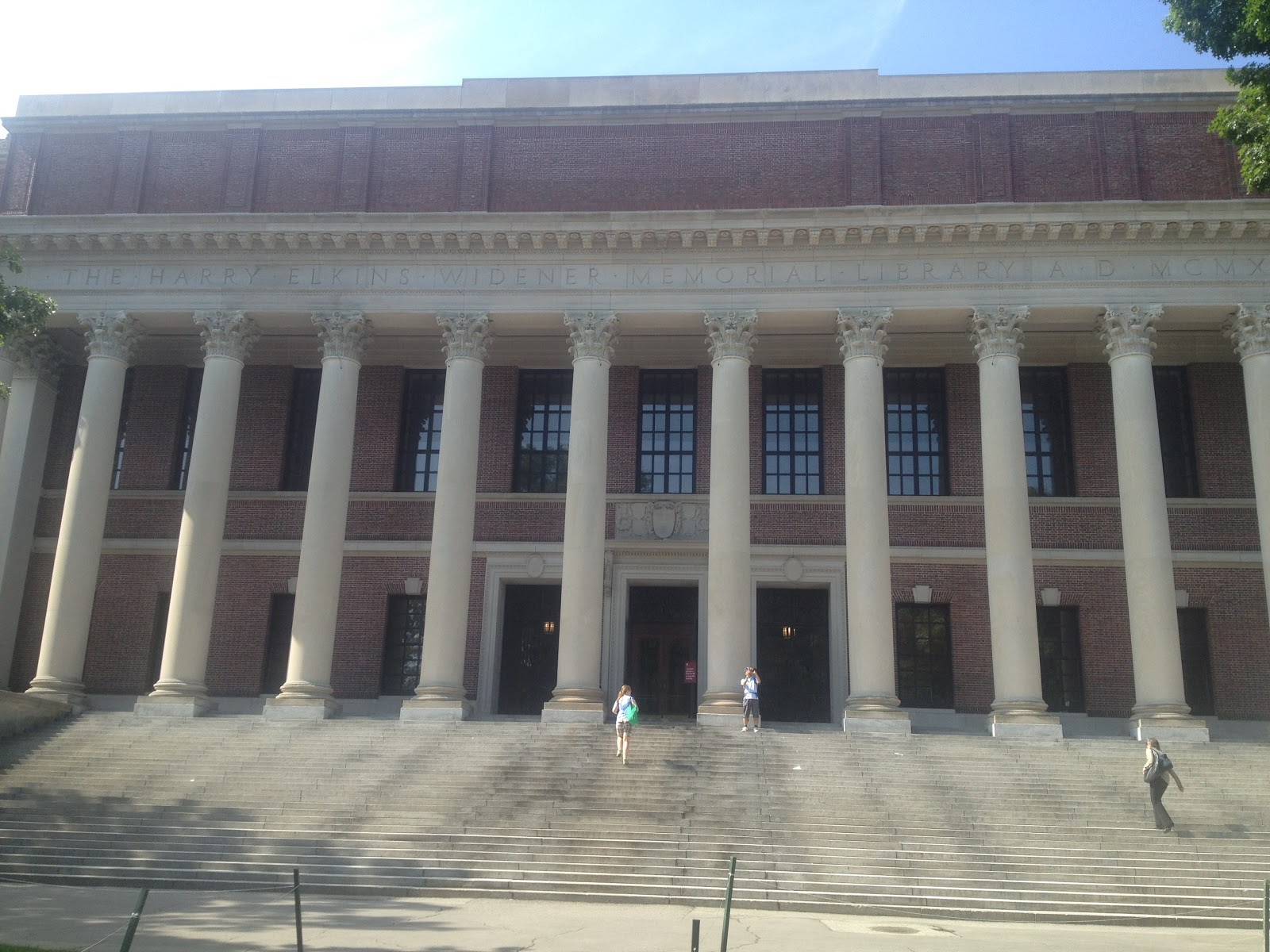 The Harry Elkins Widener Memorial Library Commonly Known As Is Primary Building Of System Harvard University