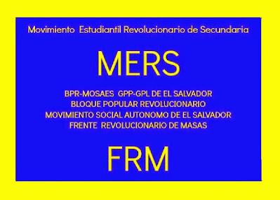 """MOVIMIENTO ESTUDIANTIL REVOLUCIONARIO DE SECUNDARIA """"Salvadoreños, Por El Bien del Pais,No Votes"""""""