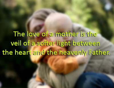 The love of a mother is the veil of a softer light between the heart and the heavenly Father.