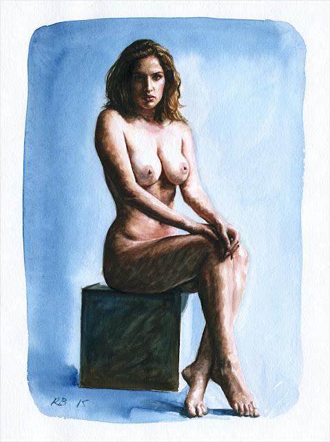 René Bui - Etude de nu à l'aquarelle 150155 - 2015