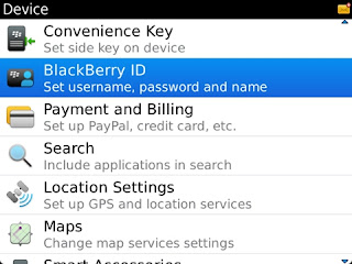 Cara Mengubah Username Dan Password Blackberry ID
