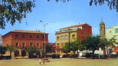 La Plaza España de Binéfar de tierra