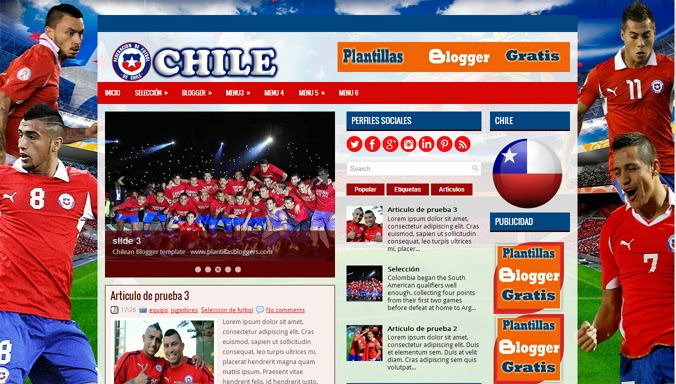 Chilean Blogger Template