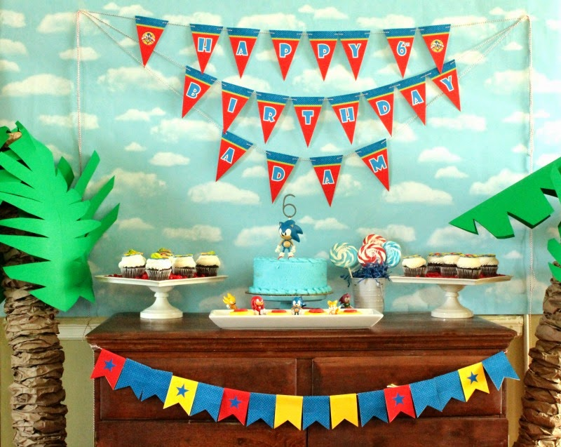 Sonic birthday party, boy birthday parties, kids parties, video game parties