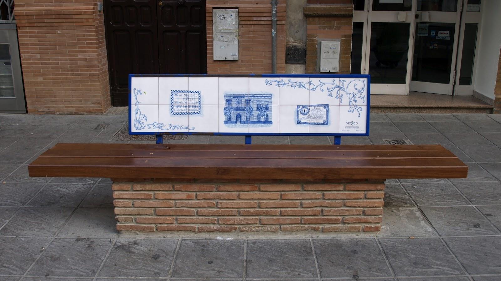 Sevilla daily photo el banco de la casa de los mensaque - Banco para sentarse ...