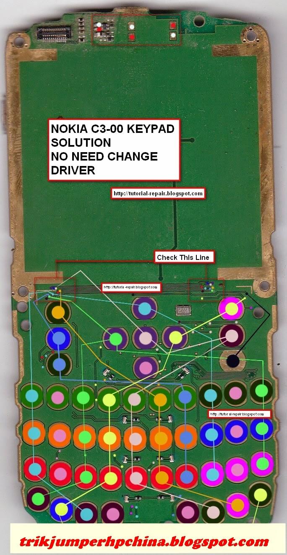 Solusi Jalur Dan Ic Keypad Atau Tombol Nokia C3